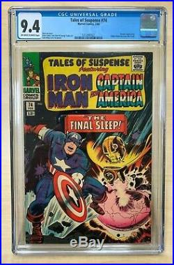 Tales of Suspense #74 CGC 9.4 OW-W Stan Lee/Marvel App Sleeper, Happy Hogan