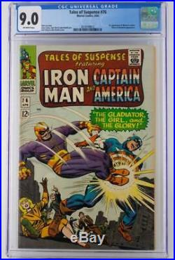 Tales of Suspense #76 CGC 9.0 VF/NM Marvel 1966 1st App of Ultimo