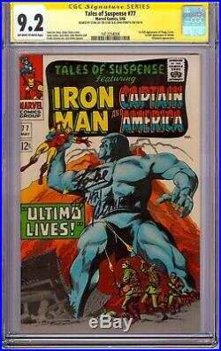 Tales of Suspense #77 CGC 9.2 Signed Stan Lee & Romita 1st Peggy Carter & Ultimo