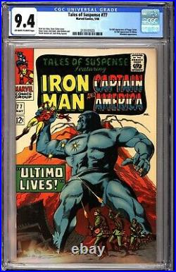 Tales of Suspense 77 CGC 9.4 OWW 1st Full Peggy Carter and Ultimo