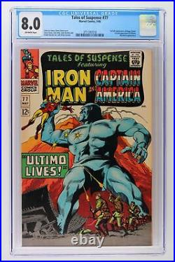 Tales of Suspense #77 Marvel 1966 CGC 8.0 1st full Appearance of Peggy Carter