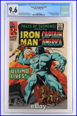 Tales of Suspense #77 -NEAR MINT- CGC 9.6 NM+ Marvel 1966 -Iron Man- 1st Ultimo