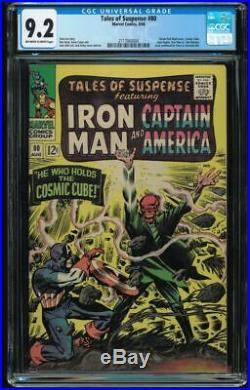 Tales of Suspense #80 CGC 9.2 OW-W Cosmic Cube Red Skull Captain America Namor
