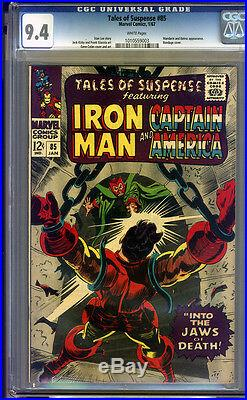 Tales of Suspense #85 CGC 9.4 NM WHITE Pages Universal CGC #1010559003