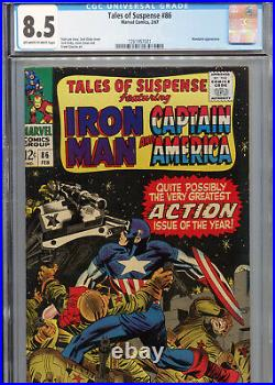 Tales of Suspense #86 (Marvel 1967) CGC Certified 8.5 Off-White-White Pages