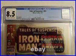 Tales of Suspense 89 CGC 8.5 VERYFINE+ Marvel 1967 IRON MAN CAPTAIN AMERICA LQQK