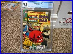 Tales of Suspense 90 cgc 8.5 Marvel 1967 Captain America Red Skull cover owithw pg