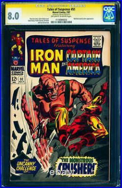 Tales of Suspense #91 (Marvel, 1967) CGC 8.0 Stan Lee Signature