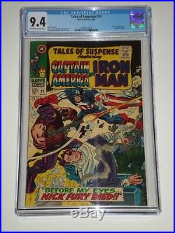 Tales of Suspense 92 (Aug 1967, Marvel) CGC 9.4 Avengers, Nick Fury Cameos
