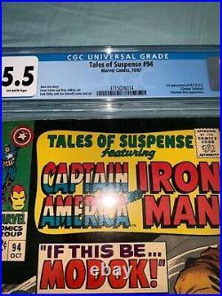 Tales of Suspense #94 CGC 5.5 1st App MODOK Marvel 1967