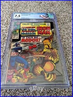 Tales of Suspense #94 CGC 7.5 Captain America Iron Man MODOK 1st Appearance