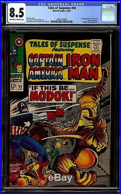 Tales of Suspense #94. CGC 8.5 VF+. First appearance of M. O. D. O. K