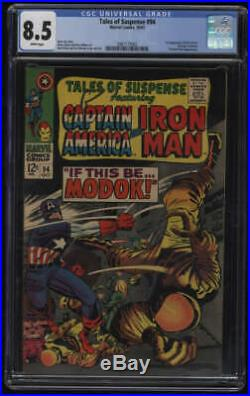 Tales of Suspense #94 CGC 8.5 White Pages 1st Appearance MODOK M. O. D. O. K. Marvel