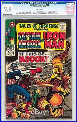 Tales of Suspense 94 CGC 9.0 White Pages! 1st MODOK! Classic Kirby Cover