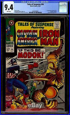 Tales of Suspense #94. CGC 9.4 NM White. First appearance of M. O. D. O. K