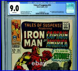Tales of Suspense #95 CGC 9.0 1968 Silver Age Marvel Amricons B3
