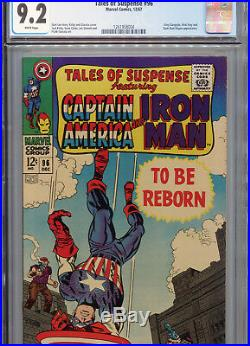 Tales of Suspense #96 (Marvel 1967) CGC Certified 9.2 White Pages