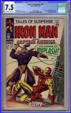 Tales of Suspense # 97 CGC 7.5 owithwp 1st app. Of Whiplash, Black Panther app