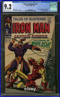 Tales of Suspense #97 CGC 9.2 (OW-W) 1st Appearance of Whiplash