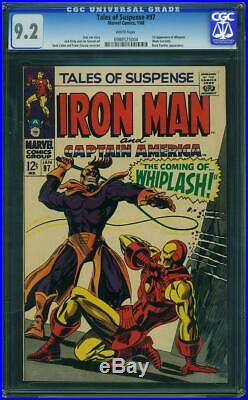 Tales of Suspense #97 CGC 9.2 (White Pages) 1st App of Whiplash