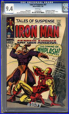 Tales of Suspense #97 CGC 9.4 NM WHITE Pages Universal CGC #1338046002