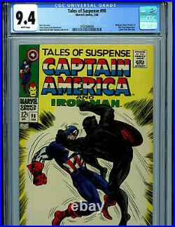 Tales of Suspense #98 CGC 9.4 1968 White Pages Marvel Comic Amricons K29