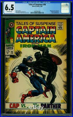 Tales of Suspense #98 (Marvel, 2/68) CGC 6.5 FN+ (Cap vs. Black Panther cover)