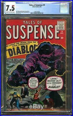 Tales of Suspense #9 CGC 7.5 VF- 1st app DIABLO Jack Kirby and Dick Ayers Cover