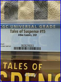 Tales of suspense 15 3/1961 Jack Kirby Steve Ditto CGC 4.5