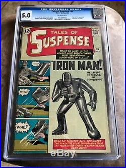 Tales of suspense #39 CGC 5.0 Unrestored Old Label easy 6.0 or higher