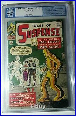 Tales of suspense 45 pgx 4.5 1st app of pepper potts. Not cgc