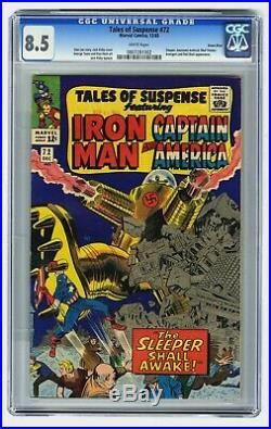 Tales to Suspense #72 CGC 8.5 White Pages! Green River Pedigree! The Sleeper