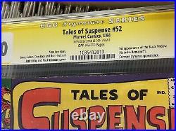Unpressed Tales of Suspense #52 1st App Black Widow CGC 7.0 Signed By Stan Lee