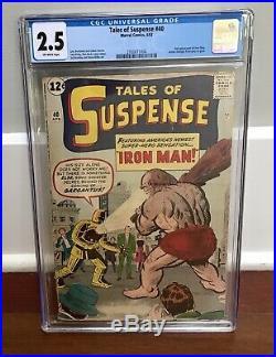 Vintage Tales of Suspense Comic No. 40 CGC 2.5 1963 2nd Iron Man Avengers